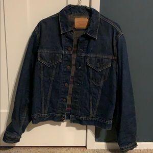 Brand new Levi's denim jacket with flannel inside